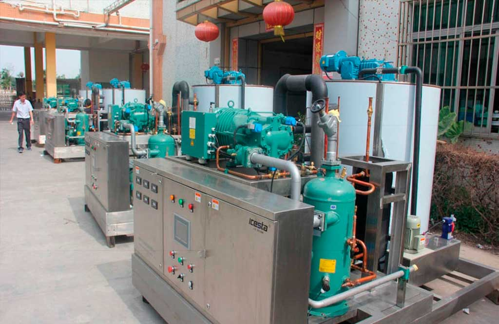 Complete stainless steel flake machines